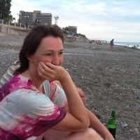 Новая Гагра пляж. Отдыхающие ., Гагра