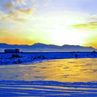 Дорога у замерзшего озера, Агара