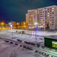 Лисаковск. Въезд в город. Ночь., Лисаковск