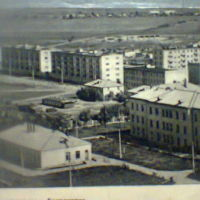 Белоозёрск примерно в 1968 году., Белоозерск