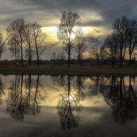 Отражение на закате   р. Ведьма г.Ляховичи, Ляховичи