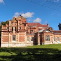 Замок Гласко в Россонах со стороны озера, Россоны