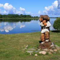 На берегу озера, Мядель