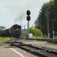 Тепловоз на станции, Вельск