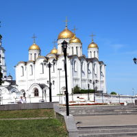 Вид на Свято-Успенский собор из парка им. А.С. Пушкина, Владимир