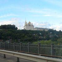 Владимир, вид на Успенский собор с моста через Клязьму., Владимир
