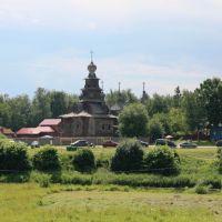 Вид на музей деревянного зодчества из кремля, Суздаль