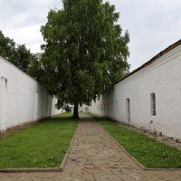 Двор бывшей политической тюрьмы в Спасо-Ефимиевском монастыре, Суздаль