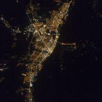 Вечерний Волгоград.Снимок с космоса, Волжский