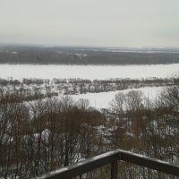 Вид со смотровой площадки на Оку, Горбатов
