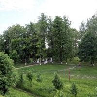 Лух. Вид на парк отдыха на территории древнего города в черте бывшего кремля, Лух