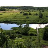 Лух. Классная панорама на живописную реку Лух, Лух