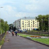 Вид с Октябрьского моста на улицу Советскую, Шуя