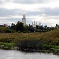 Вид на колокольню с правобережья, Шуя