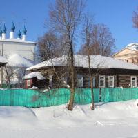 Остатки земельно - деревянных укреплений Шуйского кремля. Впереди - бывший ров, на месте забора - был вал и городская стена., Шуя