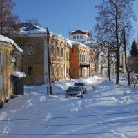 Старые дома 19 века на площади Ленина (бывшая Спасская), Шуя