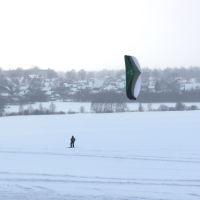 """Крылатый лыжник (с парашютом """"летающее крыло""""), Шуя"""