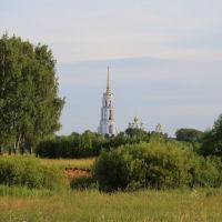Вид на Воскресенский храм с колокольней., Шуя