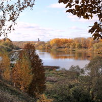 Золотая осень. Река Теза., Шуя