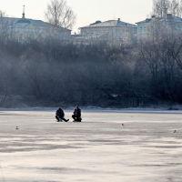 Зимние рыбаки на Тезе., Шуя