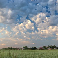 На окраине города. Небо над Юрчаково., Шуя