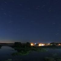 Звёзды над Конским островом, вид из городского парка., Шуя