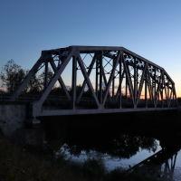 Железнодорожный мост на закате., Шуя