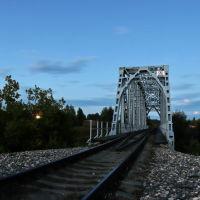 Железнодорожный мост вечером., Шуя