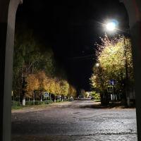 Площадь Ленина из - под арки музея., Шуя