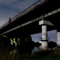 Лихушинский мост, освещённый луной., Шуя