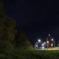Лихушинский парк. Дорога к мосту., Шуя