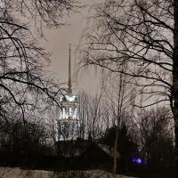 Колокольня Воскресенского собора, вид с парковой аллеи., Шуя