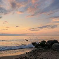Зеленоградск. (Cranz) . Пляж . , Зеленоградск