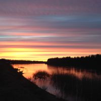Река Ижма .1 июня . 2часа ночи, Сосногорск