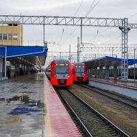 Ласточка Краснодар-Анапа на станции Анапа. 30 декабря 2019 г., Анапа