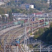 Вид на станцию Тоннельная, сентябрь 2017 г., Верхнебаканский