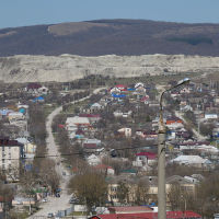 Вид на пос. Верхнебаканский, март 2019 г., Верхнебаканский