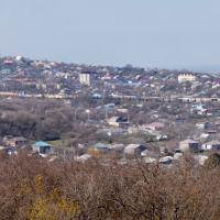 Вид на пос. Верхнебаканский, март 2019 г. (панорама), Верхнебаканский