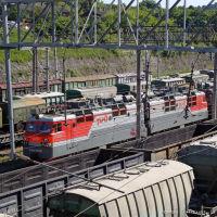 Грузовой поезд. Станция Тоннельная, Верхнебаканский