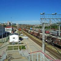 Станция Тоннельная, вид с пешеходного моста, Верхнебаканский