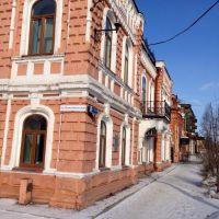 Ачинск на этом балконе стоял будущий Император Николайll, Ачинск