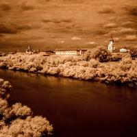 вид с моста, Шадринск