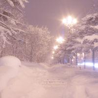Зимний тротуар, Магадан