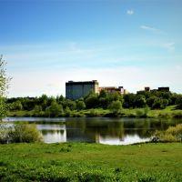 Река Сестра , вид на городскую больницу., Клин