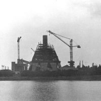 начало строительства телевышки в 1964г, Москва