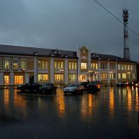 Здании администрации вечером., Талдом