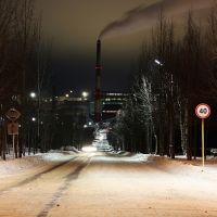 Спуск к комбинату по улице Ленина, Ковдор