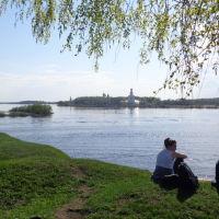 вид с Рюрикова городища, Новгород