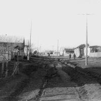 Ул. Мира. У старого колодца. 2 апр. 1970 г, Краснозерское