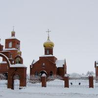 Зима. Храм Покрова Пресвятой Богородицы, Адамовка